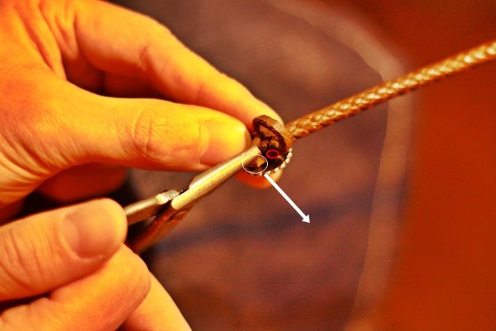 革 ブレスレット作り方 11