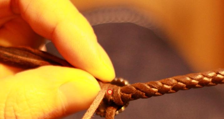 革 ブレスレット作り方 13