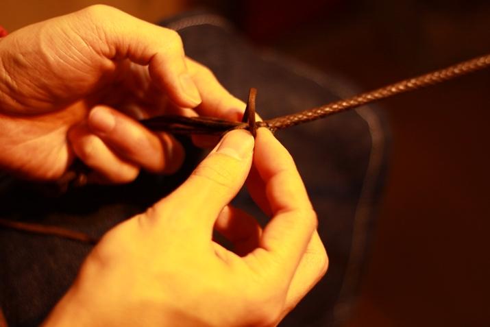 革 ブレスレット作り方 17