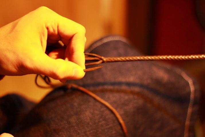 革 ブレスレット作り方 7