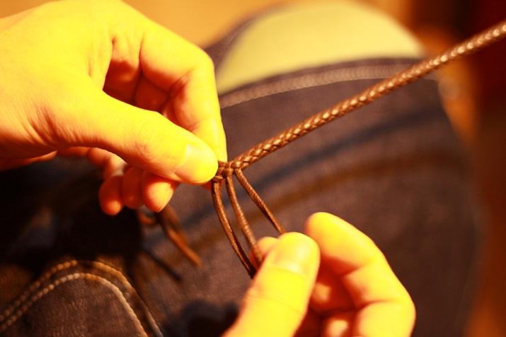 革 ブレスレット作り方