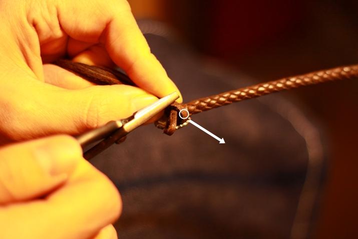 革 ブレスレット作り方 12