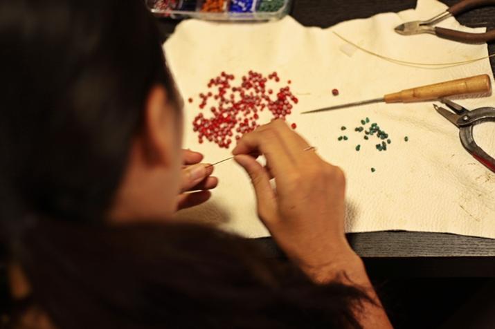 鹿革を編む オーダーメイド レザーブレスレット専門店